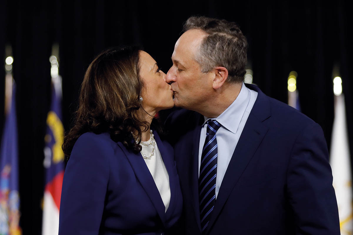 Democratic presidential candidate Biden and vice presidential candidate Harris